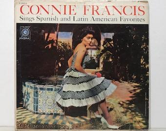 "Connie Francis Sings Spanish & Latin American Favorites – Vintage Vinyl LP Record 12"" (1960)"