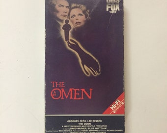 The Omen (VHS) Vintage 1984 CBS Fox, Gregory Peck