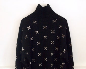 vintage 90s CLUB MONACO swiss cross WOOL sweater