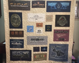 T Shirt Quilt Memory Quilt Order Quilt You Pick Size for Kathy C - Final Payment