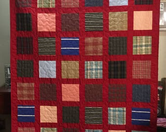 Bereavement Quilt made from Loved Ones clothing - DEPOSIT ONLY