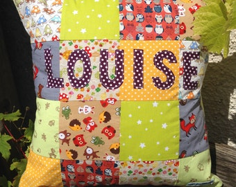 Personalised Patchwork Cushion, Made To Order