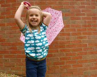 Cloud / Rainbow T-Shirt, Made To Order 1-6y
