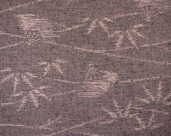 Vintage Japanese kimono fabric - Bamboo Folding Fan tsumugi silk wool kimono fabric