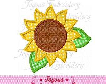 Sunflower Flower Machine Embroidery Design Circle Monogram 5 sizes INSTANT DOWNLOAD 090