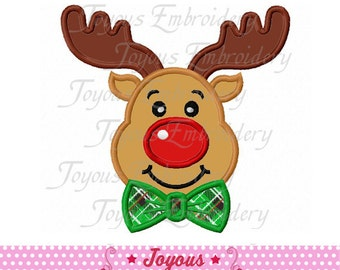 Instant Download Christmas Reindeer For Boys Applique Embroidery Design NO:1857