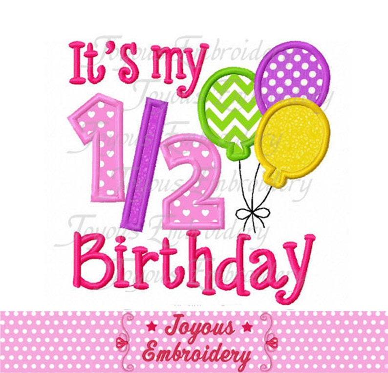 Instant Download Its My 1 2 Birthday With Balloons