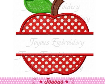 Instant Download Back to School Apple Applique Embroidery Design NO:1766