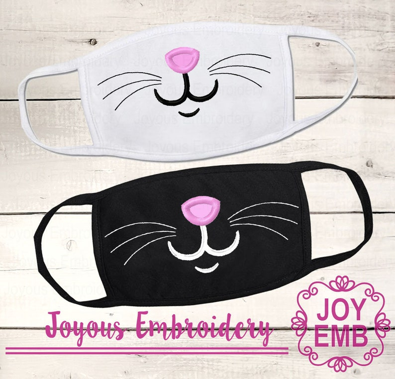 Instant Download Cat Face Applique Machine Embroidery image 0