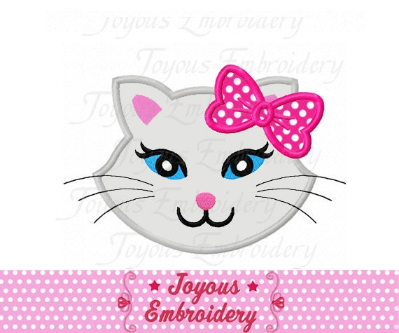 Instant Download Kitty Cat Applique Machine Embroidery Design Etsy