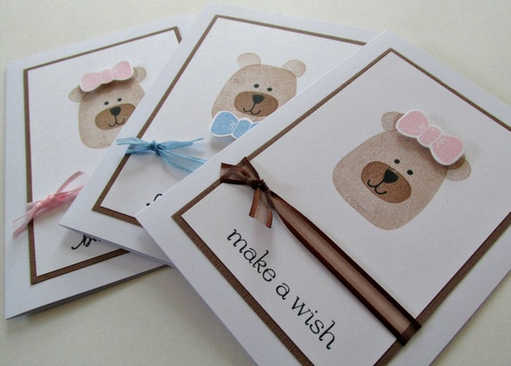 Teddy Bear Greeting Card Birthday Baby Shower