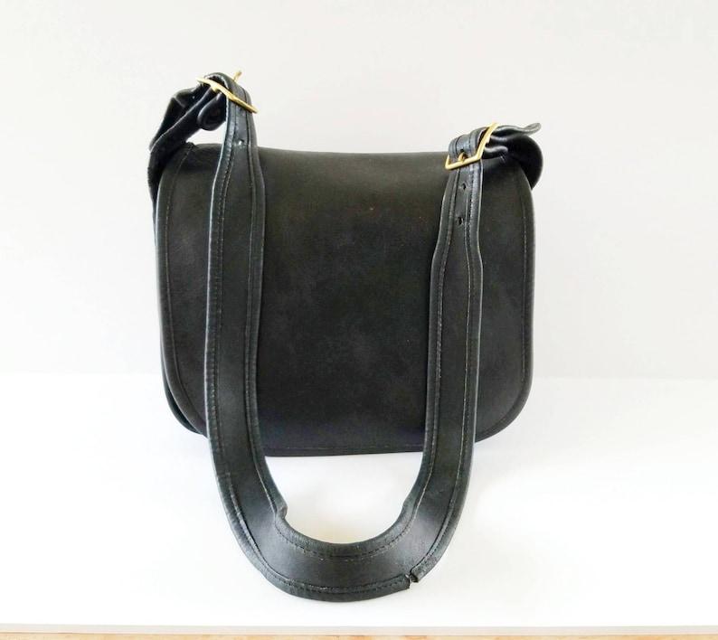 581064866 Vintage Coach Handbag Black Leather Shoulder Bag Crossbody Bag | Etsy