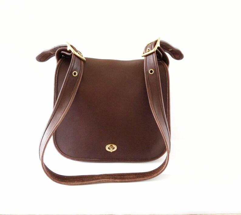 1d38614ef066 Vintage Coach Handbag Stewardess Bag Brown Leather Mahogany | Etsy
