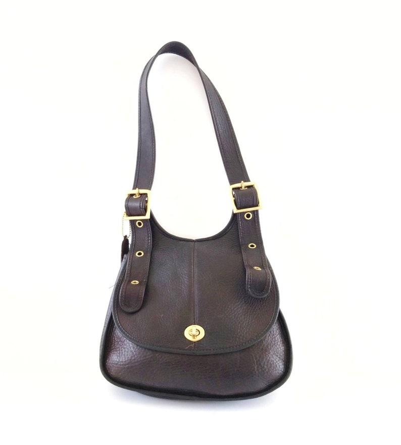 ec0272a762a4 Bonnie Cashin Vintage Coach Handbag Brown Leather Crossbody | Etsy