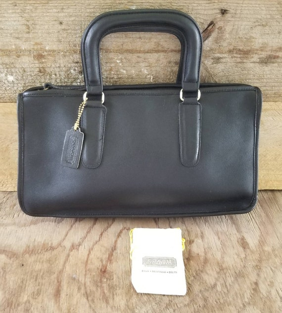Bonnie Cashin Vintage Coach Black Leather Handbag