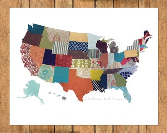 United States Collage - Horizontal Print