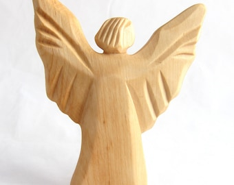 Angel of Light, Archangel Michael, Wooden Angel, Angel of Courage, Autumn and of Fire, Carved Angel, Religious Art