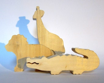 Wood cutouts, Unfinished Wooden animals, Do It Yourself, African Animals