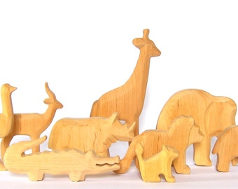 Animals of Africa, Wooden Animals, Carved Animals to Educate Love and Awe towards Nature