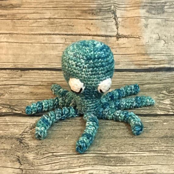 Octopus Blauw Multi Gekleurde Octopussen Nicu Octopus Haak Etsy