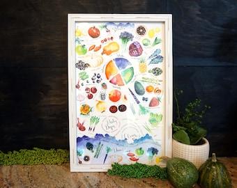Eat the Seasons Poster, 11x17