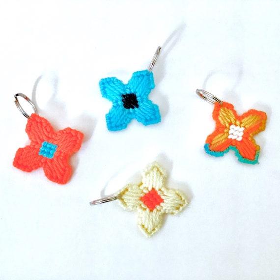 Fleur porte-clé, porte-clé fleur, floral tag clé