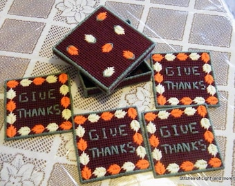 Give Thanks Fall Coaster Set with Box