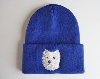 85f843c8ec1 West Highland Terrier Embroidered Beanie