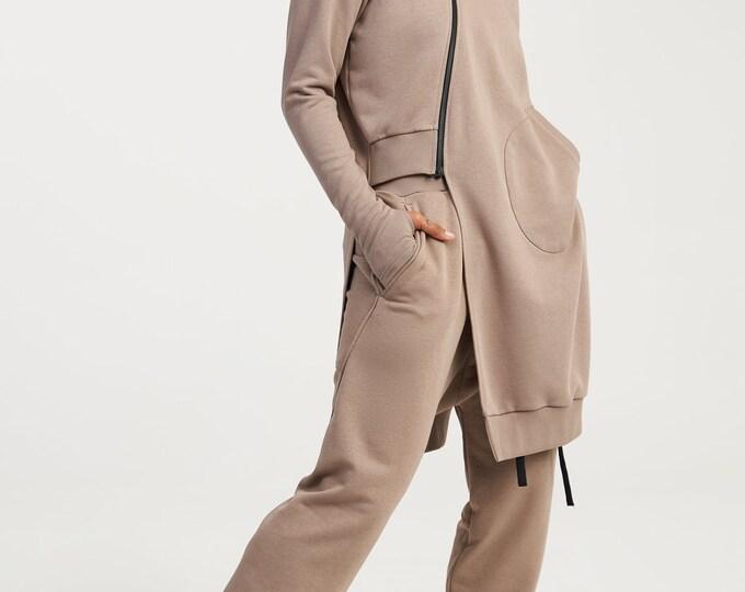 Asymmetric Hoodie & Pants Set
