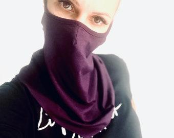 Face Mask Washable, Cotton Scarf ,Neck Gaiter ,Double Layer Mask ,Bandana Face protection ,Balaclava ,Handmade by Aakasha A36917