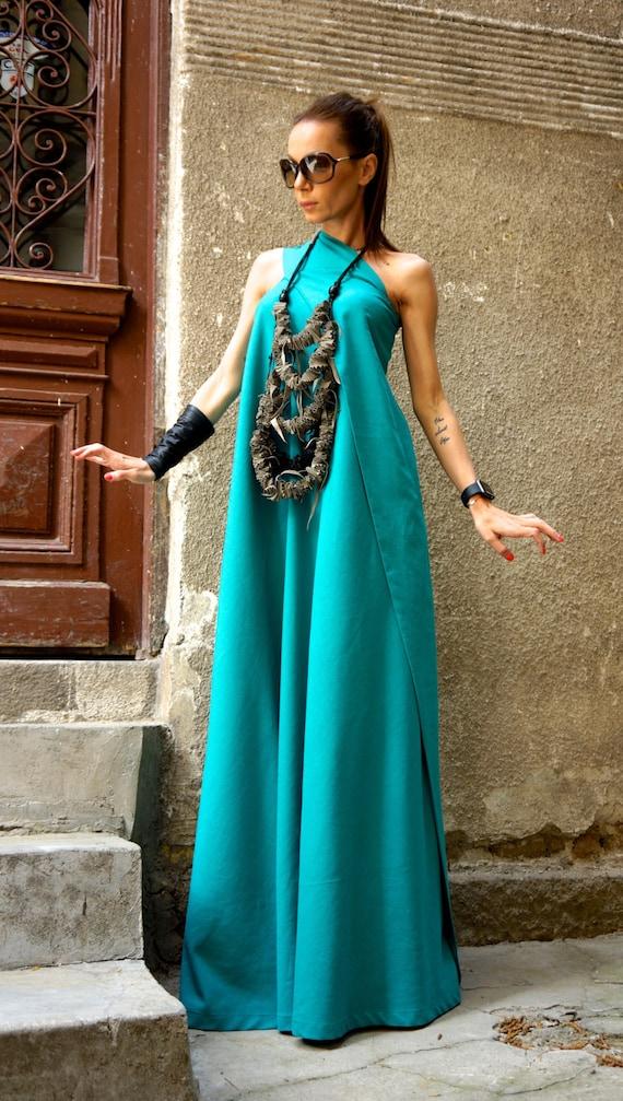 bb337f3f00b4 Heiße Sommer Maxikleid Kiefer grünes Leinen Kleid   eine   Etsy