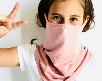 Kids Face Mask Washabe, Cotton Double Layered Scarf ,Fashion Reusable Mask ,Bandana Face protection ,Balaclava ,Handmade by Aakasha A36917