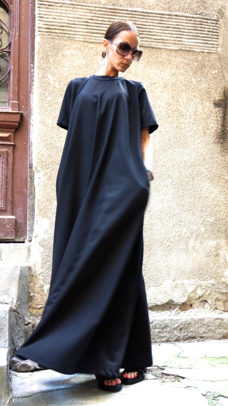 cfa8828c26 XXLXXXL Maxi Dress   Black Kaftan   Extravagant Long Dress