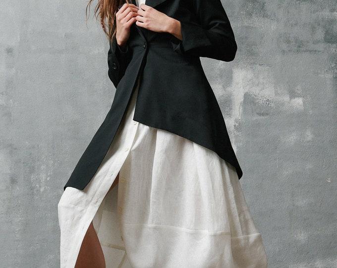 Asymmetrical Buttoned Blazer by Aakasha A10283