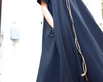 NEW Maxi Dress / Black Kaftan / Extravagant Long  Dress / Party Dress / Daywear Dress by AAKASHA A03137
