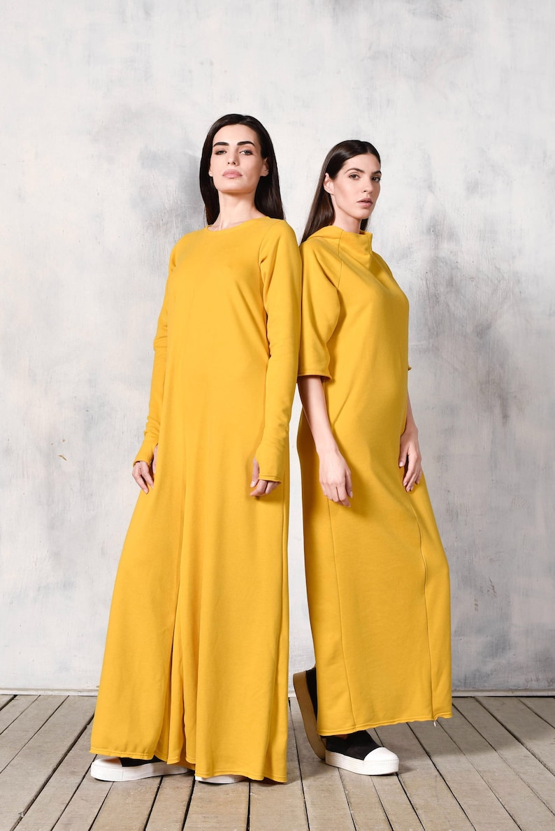 75fc31028d NEW Collection Yellow Cotton Wide Leg Maxi Jumpsuit