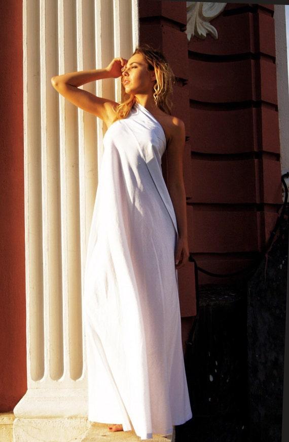 1d02546efe75 Neue Sexy Maxi-Kleid   Kaftan Leinen Kleid weiß   eine   Etsy