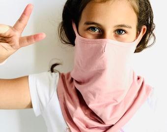 Kids Face Mask Washable, Cotton Double Layered Neck Gaiter, Reusable Mask ,Bandana Face protection ,Balaclava ,Handmade by Aakasha A36917