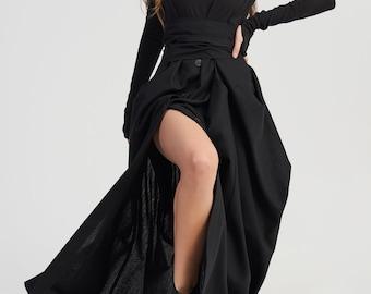 Maxi Dress with Belt A03962