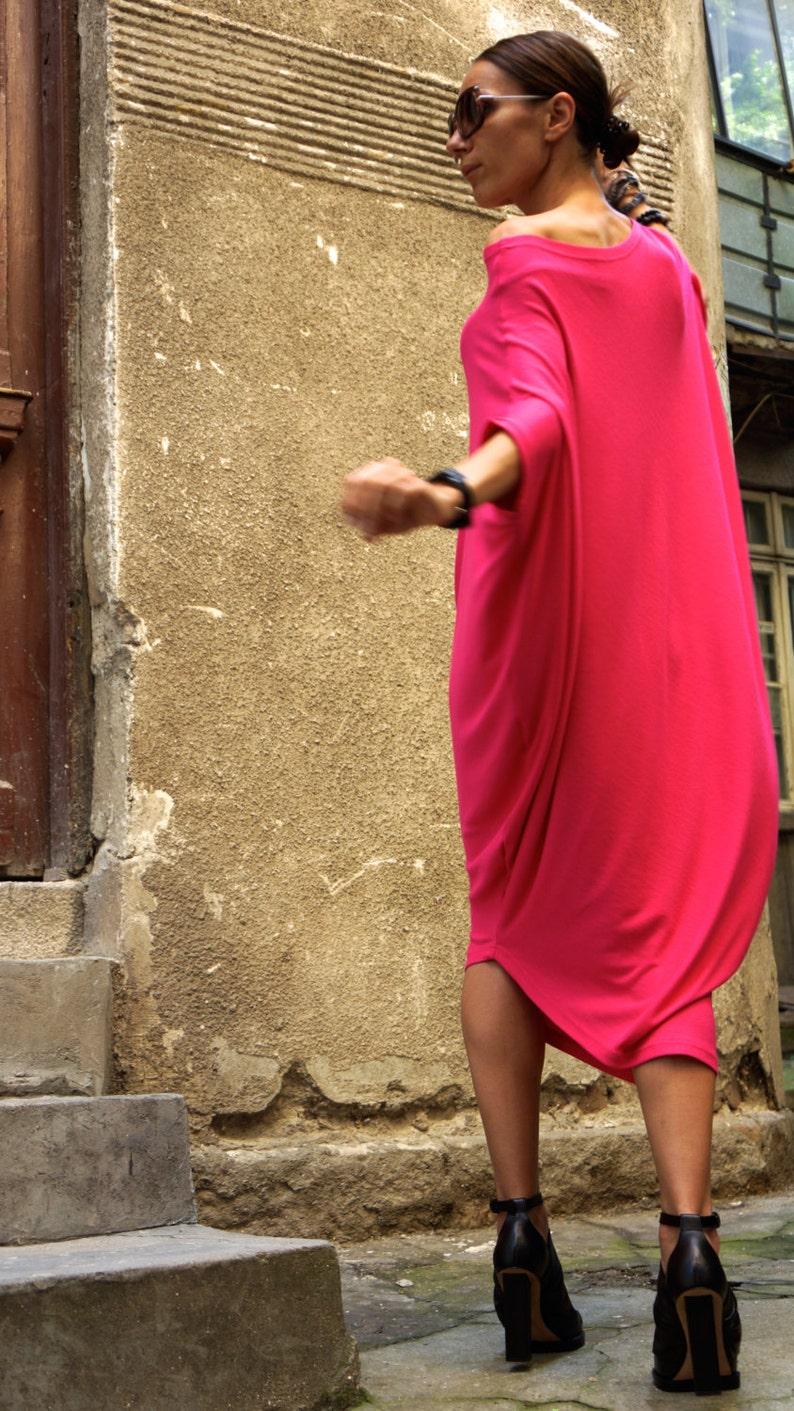 0db71f5da49 Sexy Summer Fuchsia Loose Kaftan / Maxi Dress / Asymmetric | Etsy