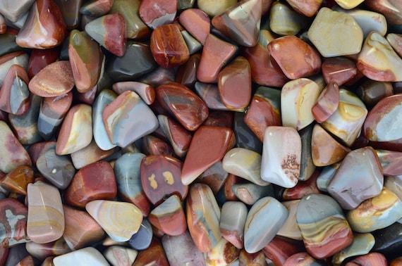 - Premium Polished Rocks! Small Fantasia Materials: 10 pcs Tumbled Crocodile Jasper Stones from Madagascar 0.75 to 1.25 Avg