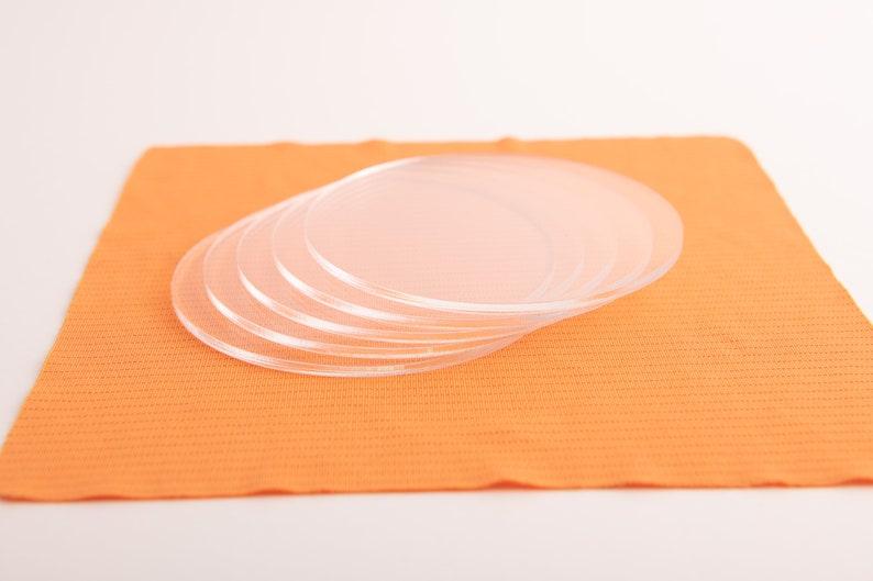10 Large Clear Acrylic Plastic Discs Sizes