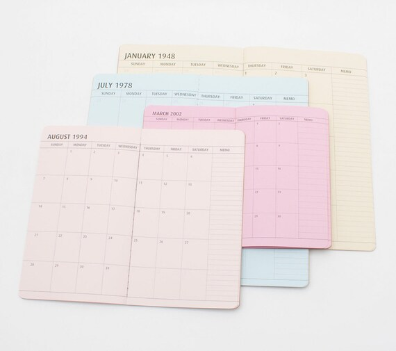 Custom Personalized Year Calendar Planner Monthly Dated Insert Etsy