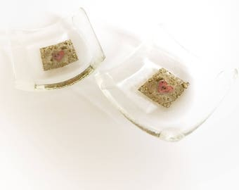 Fused Glass Trinket / tealight dish