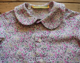 Girl's vintage liberty Cacharel blouse 12 months