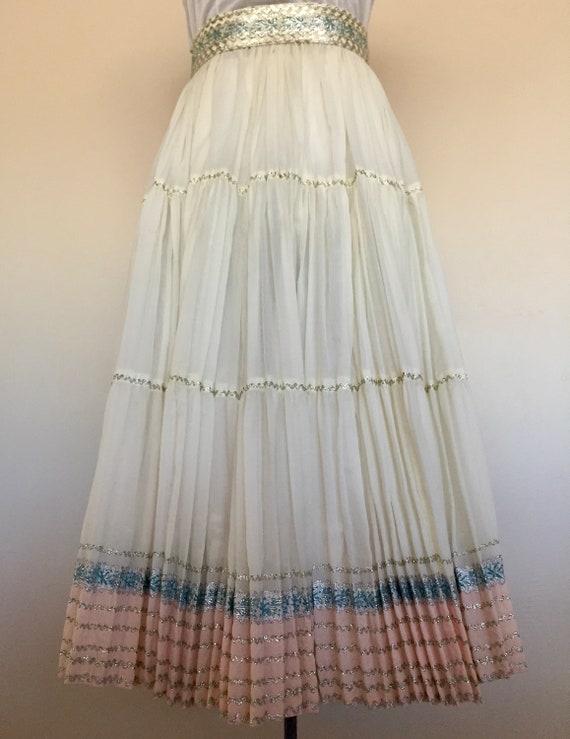 1950s handmade western skirt