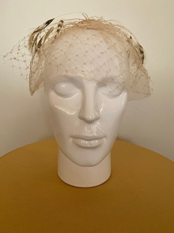 1940s Rose gold fascinator