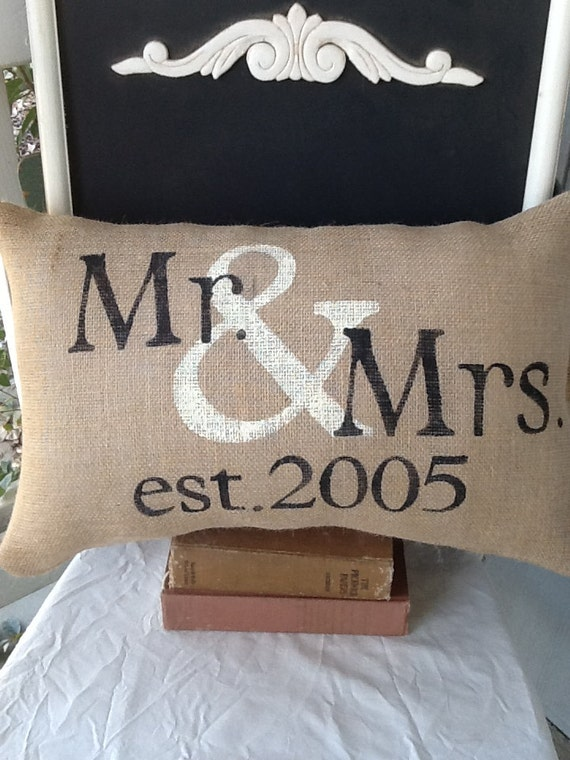 Items Similar To Mr And Mrs Pillow Personalized Pillow