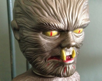 Rare Vintage Wolfman Monster Soaky Elusive RED Pants Collectible 1960s Bath Toy Colgate Palmolive Universal Monster Figurine