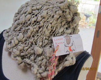 one of a kind funky loose knit hat
